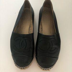 Chanel Espadrilles Lambskin Black Size: 39
